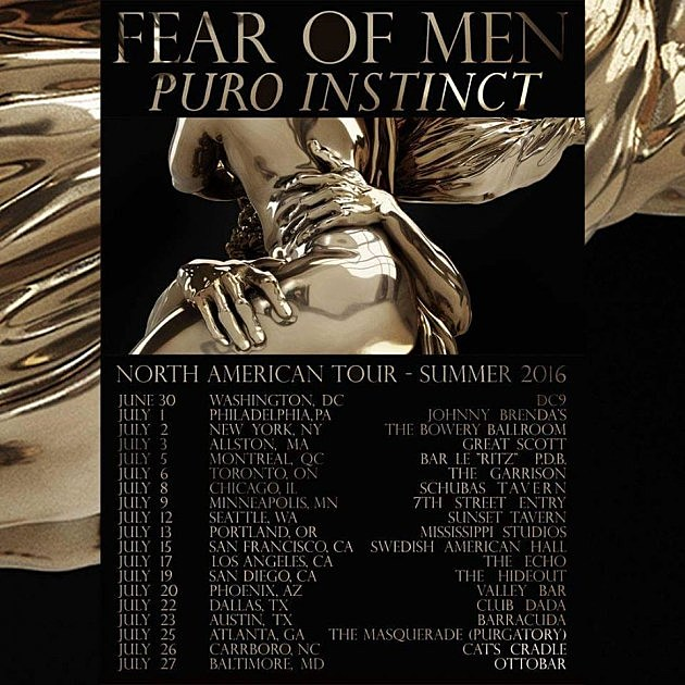 FEAR OF MEN PURO TOUR 2016