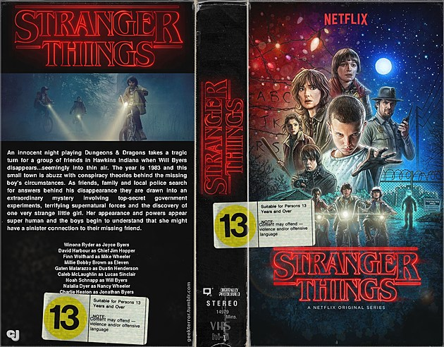 STRANGER THINGS VHS JACKET