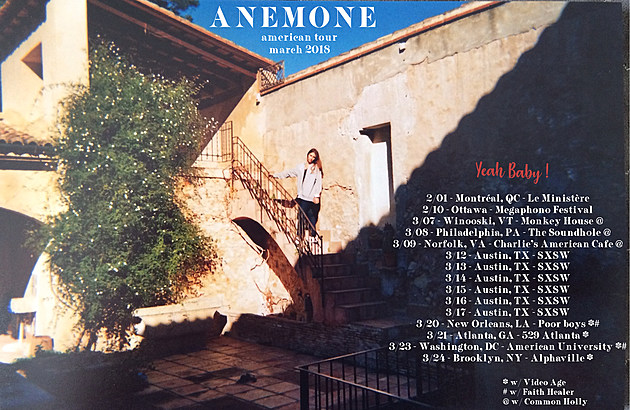 Anemone tour poster 2018 update