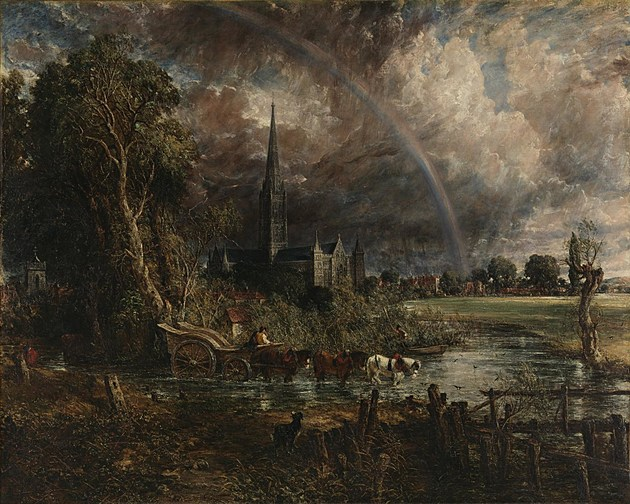 Salisbury Cathedral from the Meadows 1831 by John Constable 1776-1837